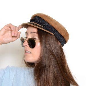 Accessories - Vintage Suede Captain's Hat 🐍